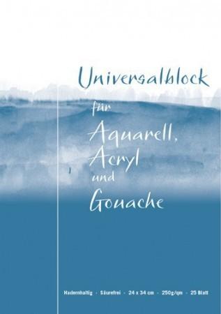 Vang Universalblock für Aquarell, Acryl und Gouache 300g naturweiß