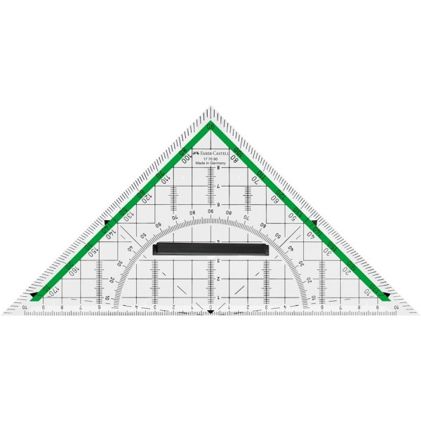 Faber-Castell Geometrie-Dreieck groß mit Griff 20 cm