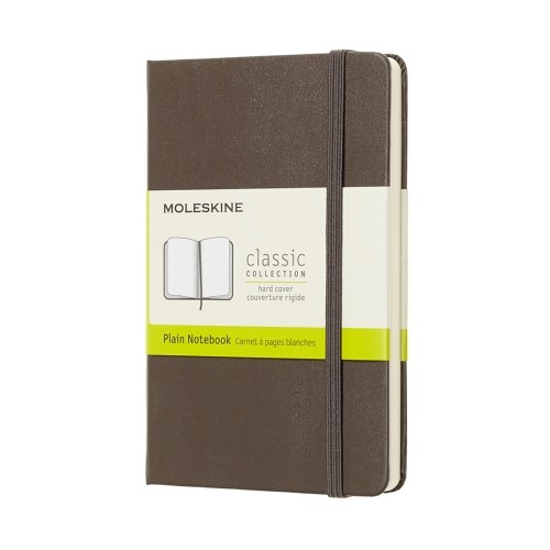 Moleskine Classic Collection Plain Notebook Blanko Erdbraun
