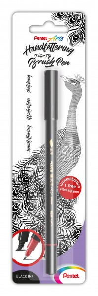 Pentel Twin Tip Brush Pen Handlettering (XSW34)