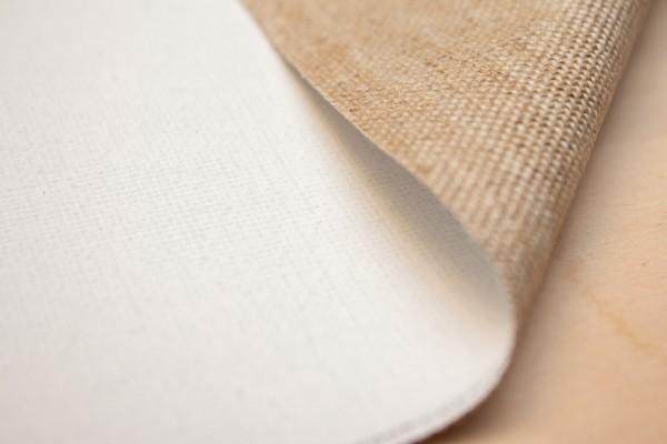 primed linen CUPIDO 420 g/m² white, 2.10 m width, coarse, No.2406