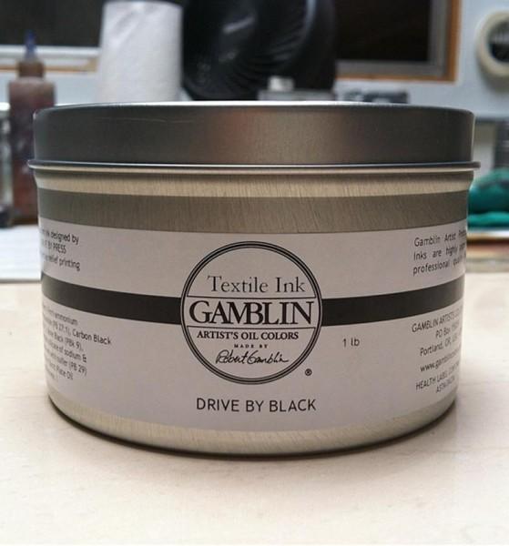 Gamblin Textile Ink Drive By Black 300ml