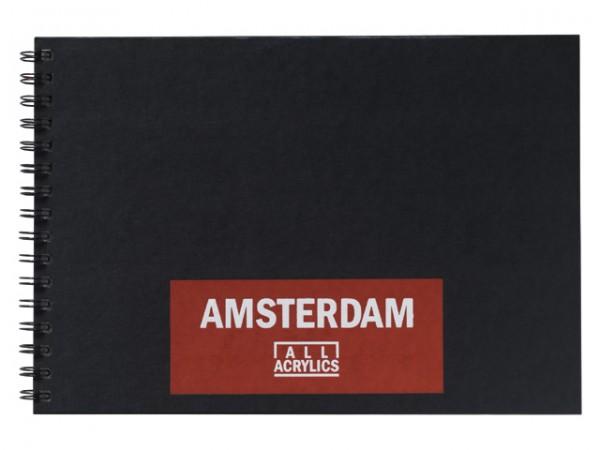 Amsterdam Skizzenbuch Spiral Schwarz