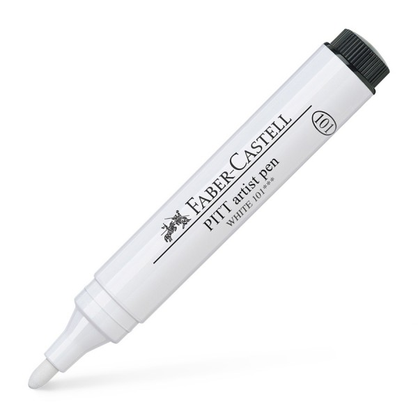 Faber-Castell Tuschestift Pitt Artist Pen 2.5mm White 101
