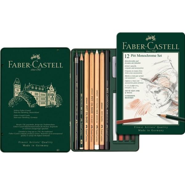 Faber-Castell 12 Pitt Monochrome Set