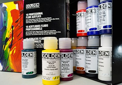 Golden Fluid Acrylics Principal 10 Set (905)