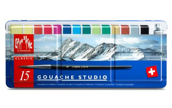 Caran d'Ache Gouache Studio Gouache in Tabletten