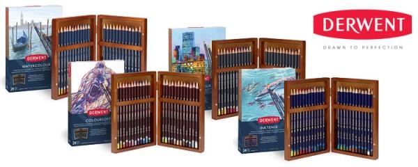 Derwent Watercolour Pencil 24 Set Wooden Box