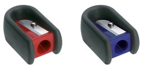 Einfachspitzer Faber-Castell rot/blau 184801