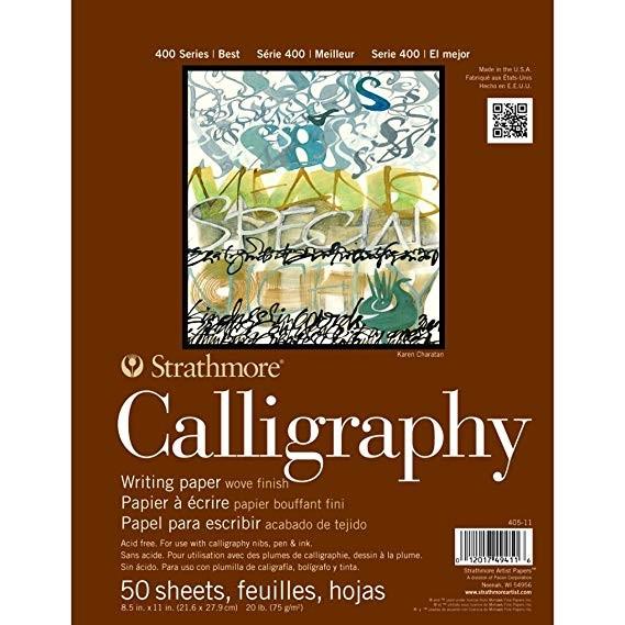 Strathmore 400 Kalligraphie Block 75g, 21 x 28cm