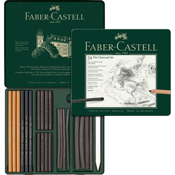 Faber-Castell 24 Pitt Charcoal Set