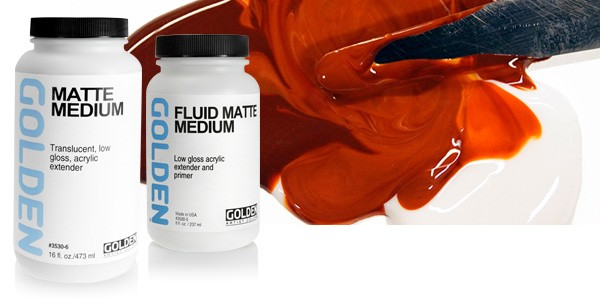 Golden Fluid Matte Medium (3520)