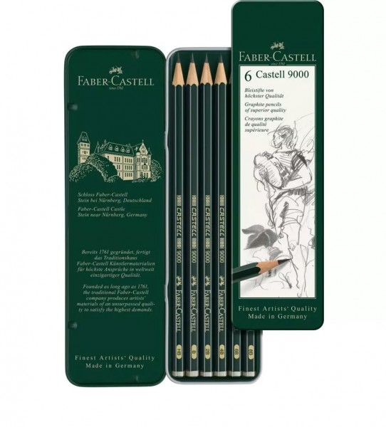 Faber-Castell Bleistift 9000 6er Etui