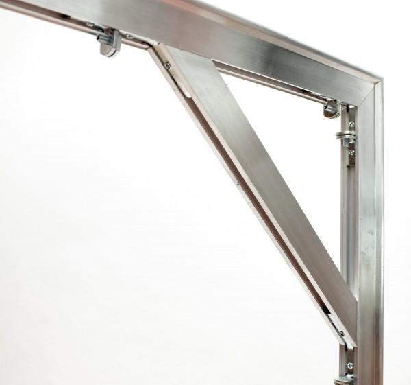 aluminium and wood combo frame, profil 2,7 x 4 cm, No. 2740