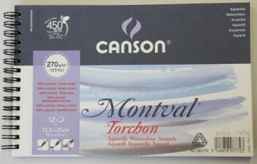 Canson Spiralblock Montval Torchon Aquarelle 270g/m2
