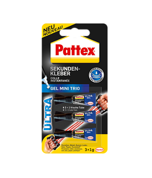 Pattex Sekundenkleber Ultra Gel Mini Trio