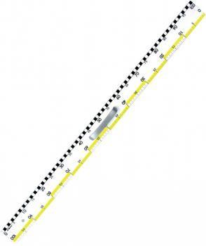 Leniar Plastiklineal weiß 100cm