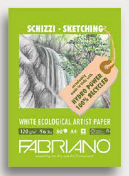 Fabriano White ECOLOGICAL Artist Paper