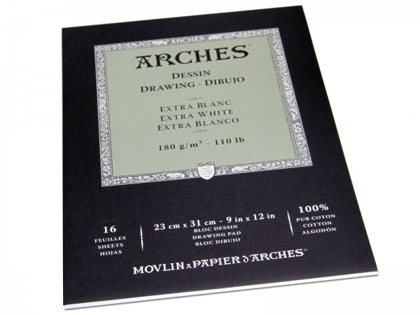 Arches Dessin Extra White Drawing Pad 180g