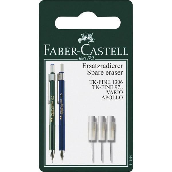 Faber-Castell Ersatzradierer DBS TK-Fine BK 3x