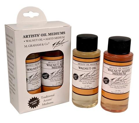 M. Graham & Co. Walnut Oil/Alkyd Medium 2-Pack