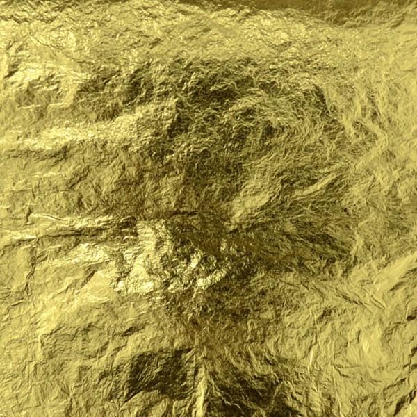 Kama Pigments Gold Leaf Pure 24 Carat 8x8cm, 25 Sheets