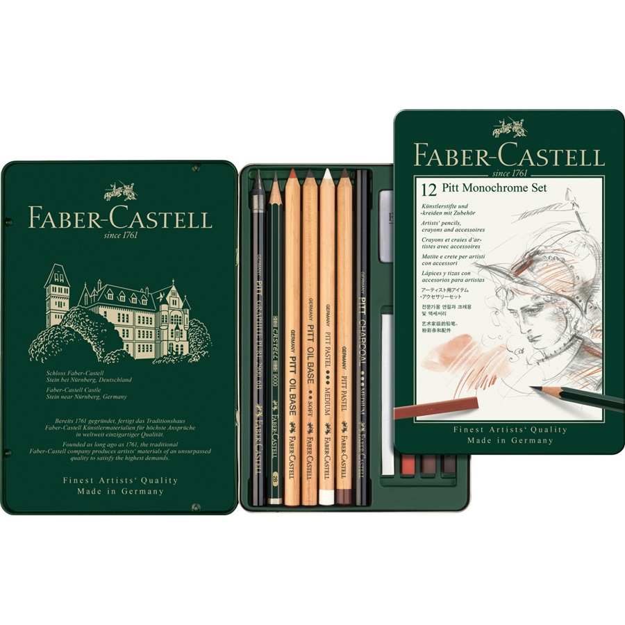FABER-CASTELL Zeichenkohlestift PITT MONOCHROME medium