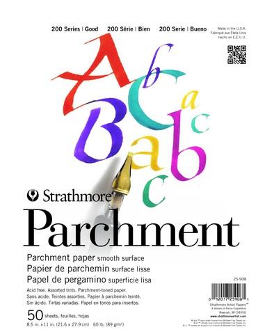 Strathmore 200 Parchment Kalligraphie Block 89g, 21 x 28 cm