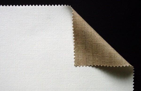 primed linen 400 g/m² white, 2.15 width, medium- coarse, No. 18533