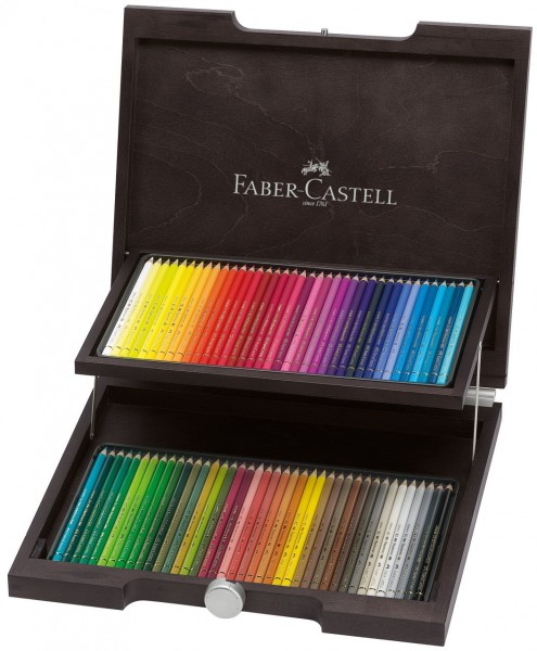 FABER CASTELL Colour Pencil Polychromos wood case of 72