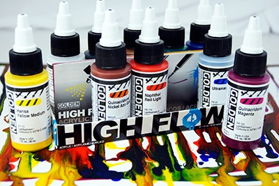 Golden High Flow Acrylics Airbrush - Transparent Colors Set (954)