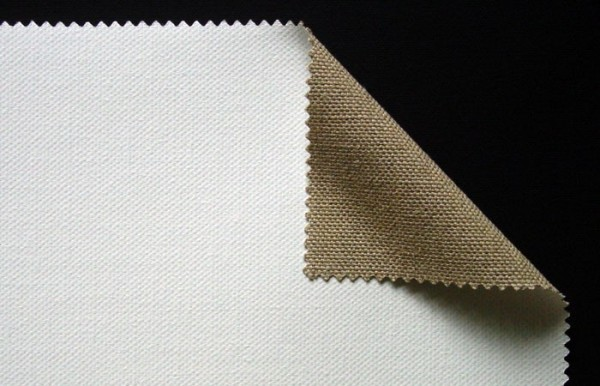 primed linen 400 g/m² white, 3.10 m width, medium- coarse, No. 18566