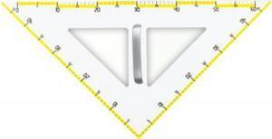 Leniar Plastik Gleichschenkliches Dreieck weiß 45