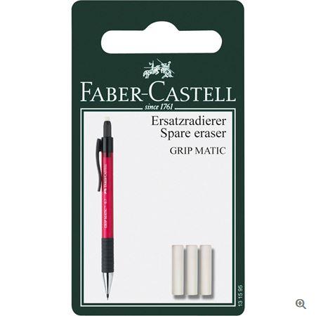 Faber-Castell Ersatzradierer DBS Grip Matic BK 3x