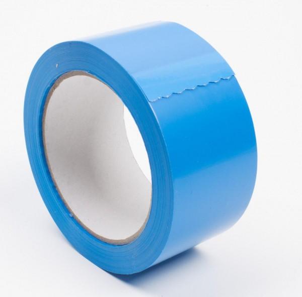 PVC Glasklebeband, hellblau,50mm/66lfm