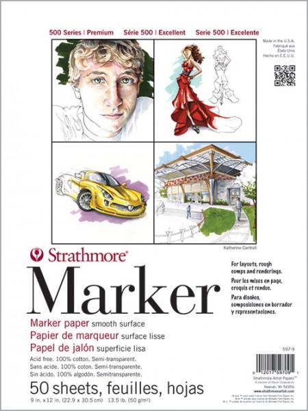 Strathmore 500 Marker Pad Semi Transparent 50g 23 x 30,5cm (5979)