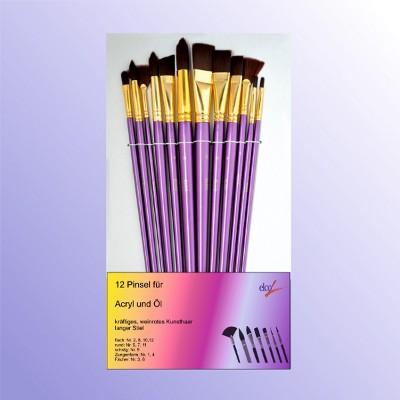 Elco Acrylfarbenpinsel-Set 12 Tgl.- Acryl und Öl
