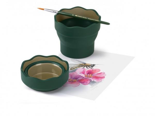 Faber-Castell Clic & Go Wasserbecher, dunkelgrün