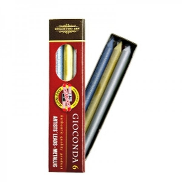 KOH I NOOR Farbminen GIOCONDA - 5,6 mm - Metallic Mix - 6er Pack (4380)