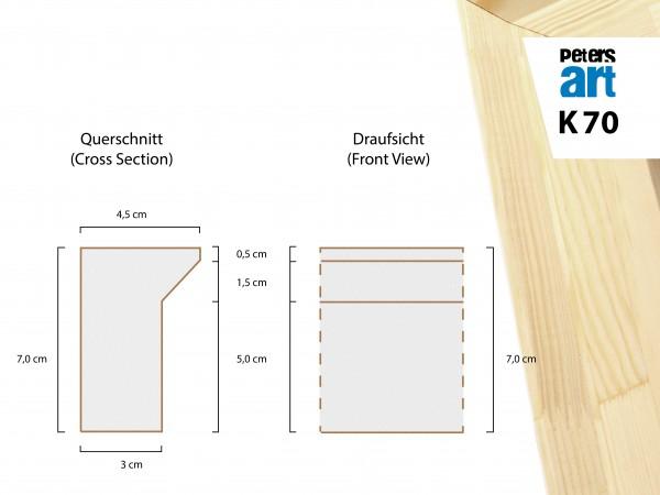 Keilrahmen Leiste K70 (4,5 x 7,0 cm)