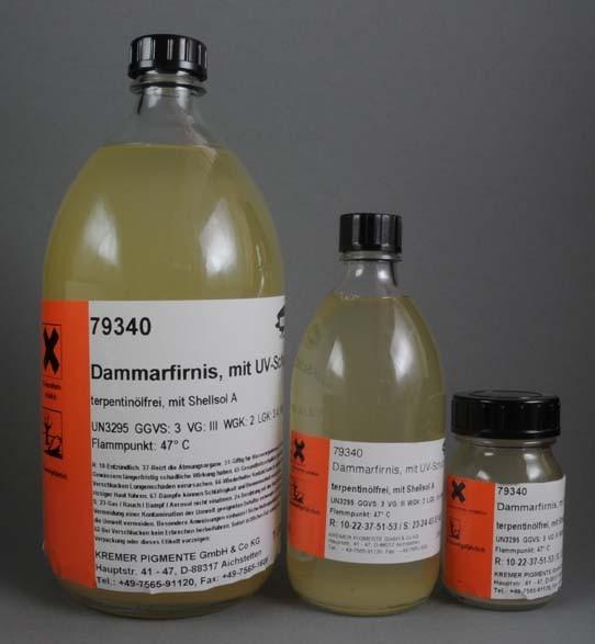 Kremer Dammar Varnish with Shellsol® A, UV Stabilized (79340)