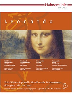 Hahnemühle Echt-Bütten Aquarell Leonardo 600g/m2 10 Blatt